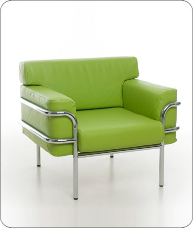 Superbe 577 Armchair Lime Green Faux Leather H770 W900 D810 Sh425. Print Large Image